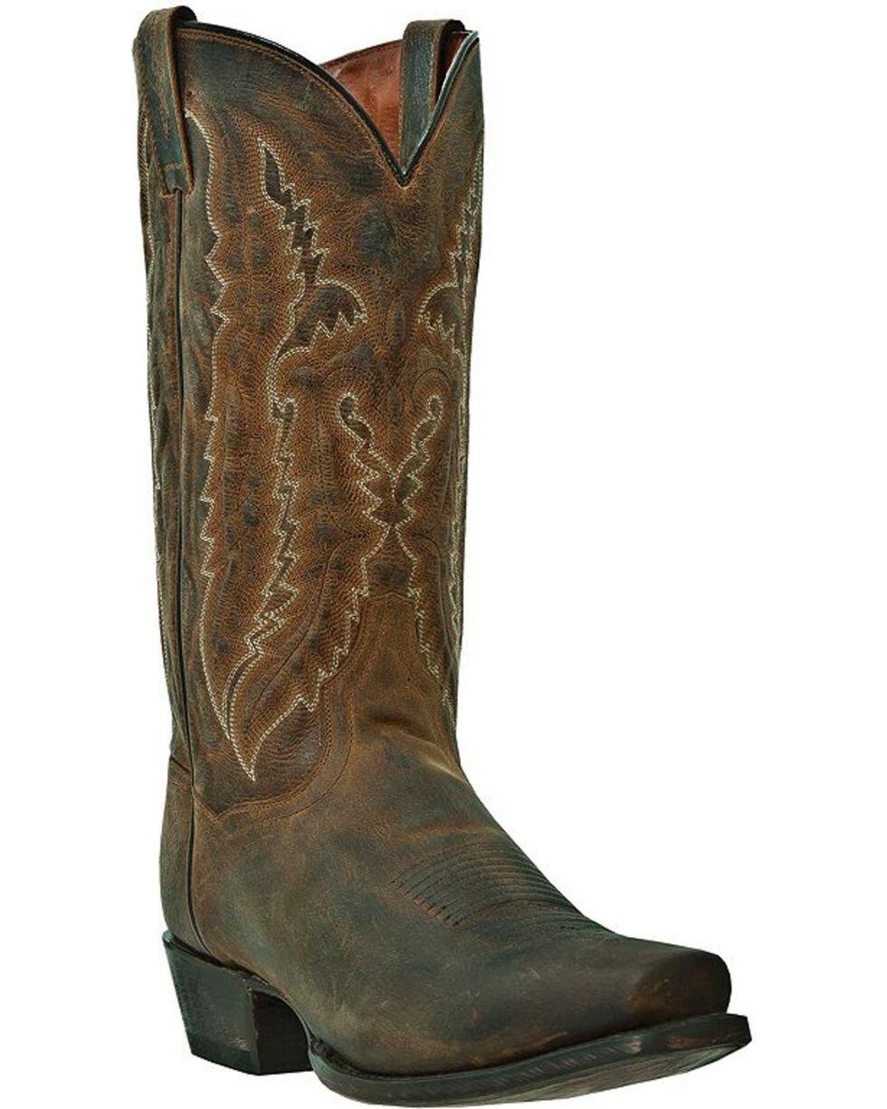 Dan Post Men's Earp Distressed Western Boots, Bay Apache, hi-res
