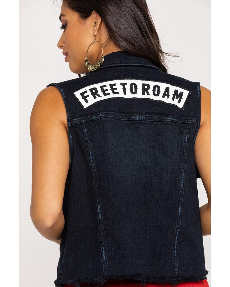 Idyllwind Women's Black Free To Roam Denim Vest, Black, hi-res
