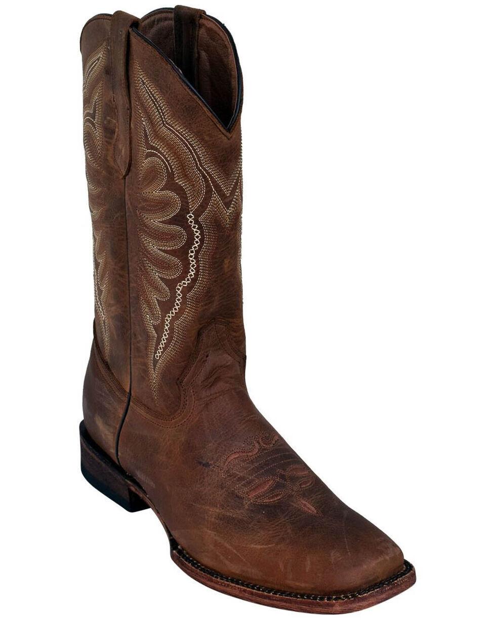 Ferrini Men's Brown Cowhide Western Boots - Square Toe, Brown, hi-res