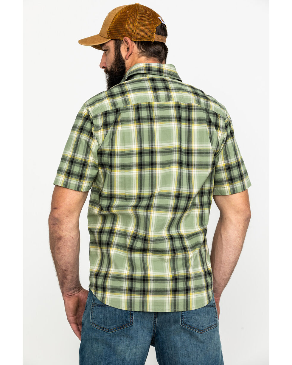Carhartt Men's Green Solid Rugged Flex Rigby Short Sleeve Work Shirt - Big , Green, hi-res