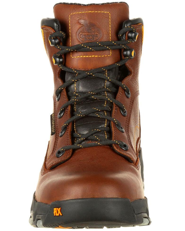 Georgia Boot Men's FLXPoint Waterproof Work Boots - Composite Toe, Brown, hi-res
