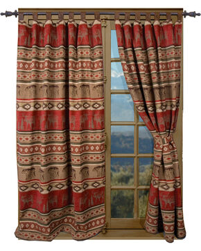 Carstens Adirondack Drapes, Red, hi-res