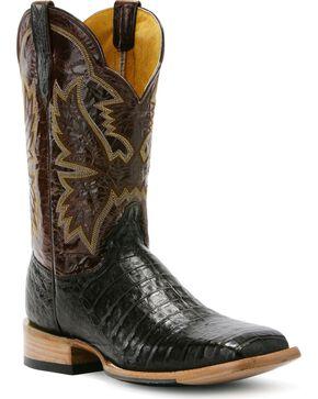 Cinch Classic Mica Caiman Cowboy Boots - Square Toe, Cigar, hi-res