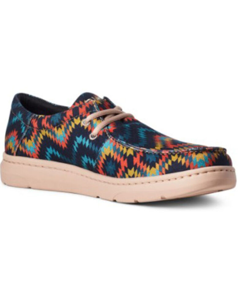 Ariat Men's Hilo Blue Aztec Casual Shoes - Moc Toe, Blue, hi-res