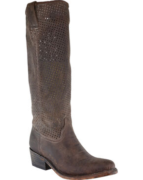 Corral Women's Cut Out Tall Boots, Honey, hi-res