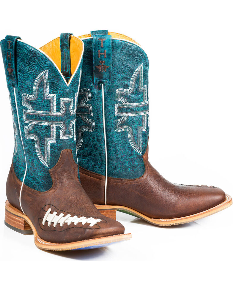 Tin Haul Men's Football Western Boots, Brown, hi-res