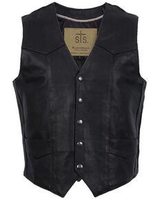 STS Ranchwear Men's Black Chisum Vest , Black, hi-res