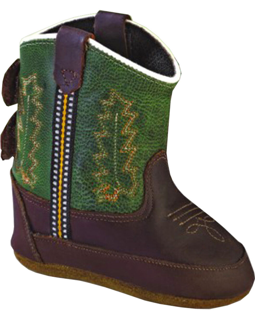 Old West Infant Girls' Poppet Crib Boots, Oiled Rust, hi-res