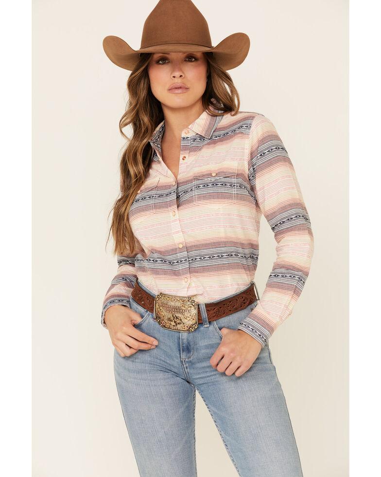 Ariat Women's R.E.A.L Radiant Serape Striped Long Sleeve Western Core Shirt, Multi, hi-res