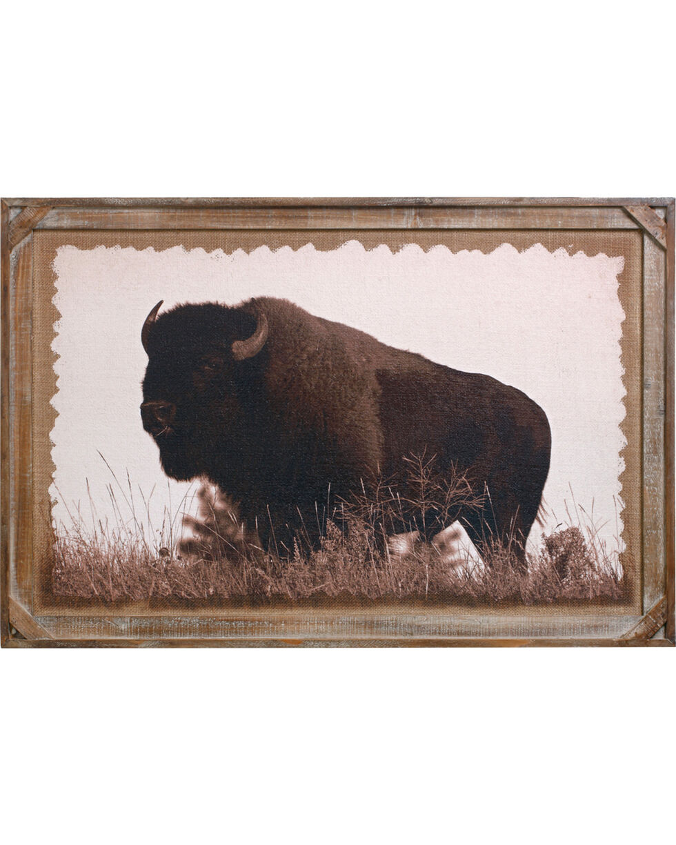 Demdaco Buffalo Barnwood Gallery Art , Brown, hi-res