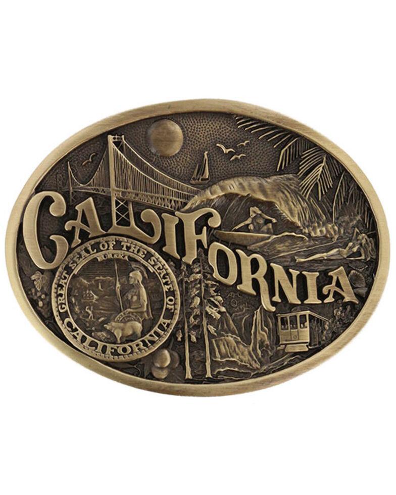 Montana Silversmiths California State Belt Buckle, Gold, hi-res