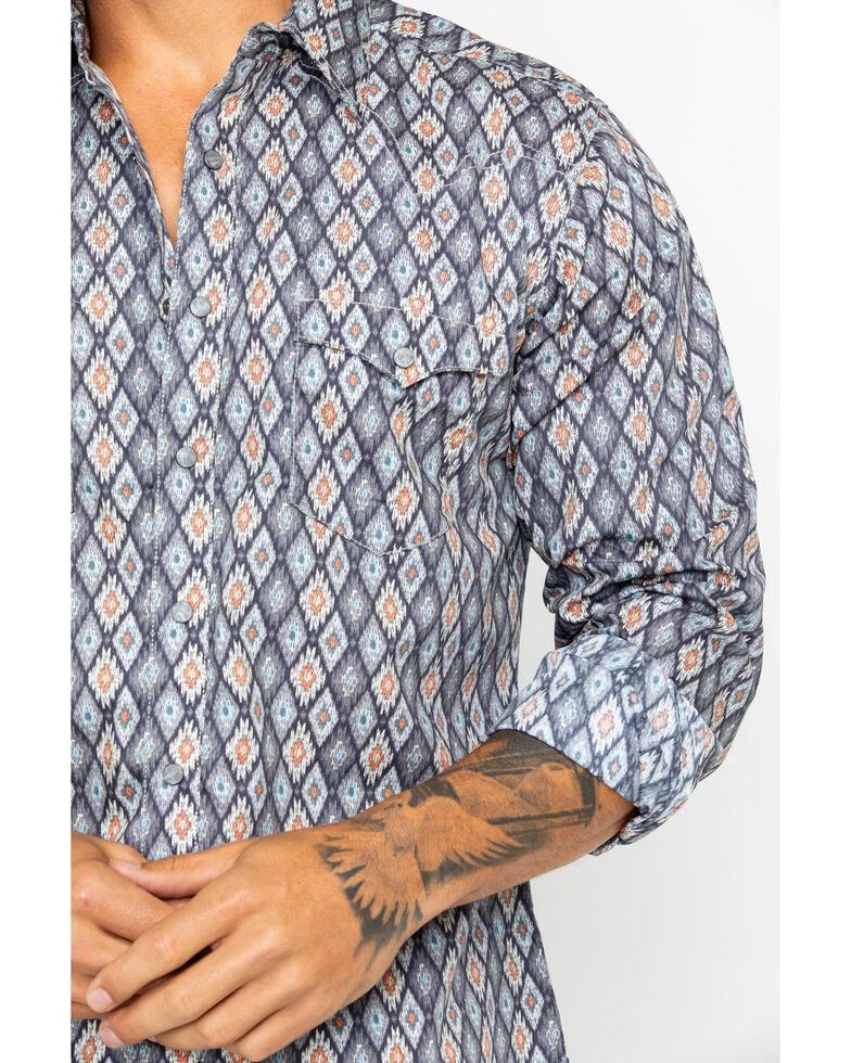 Wrangler Retro Men's Premium Aztec Print Long Sleeve Western Shirt , Grey, hi-res