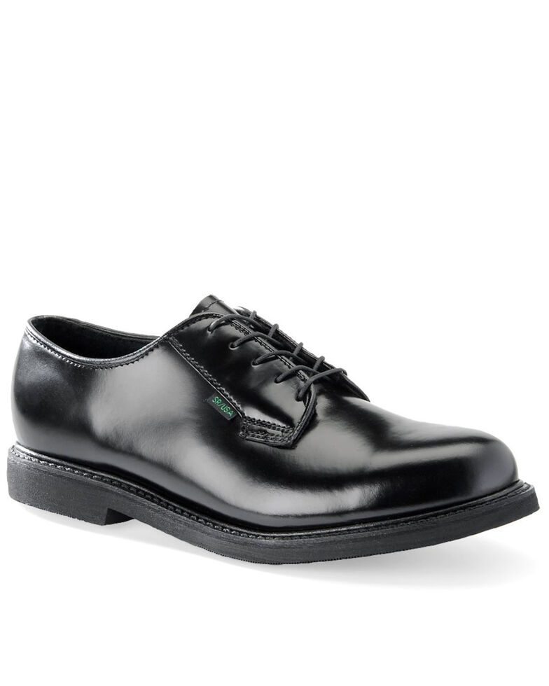 Corcoran Men's USA Postal Oxford Shoes, Black, hi-res