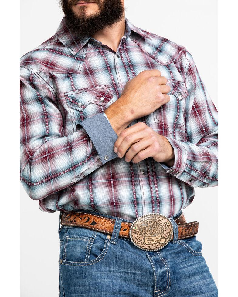 Cody James Men's MC Calister Med Plaid Long Sleeve Western Shirt , Blue/red, hi-res