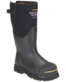 Dryshod Steel Toe Adjustable Gusset Work Boots, Black, hi-res
