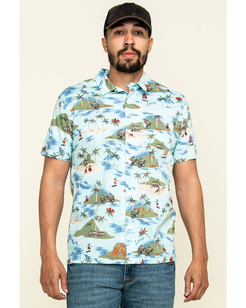 Levi's Men's Galveston Print Short Sleeve Western Shirt , Multi, hi-res