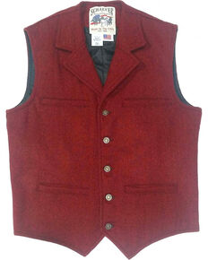 Schaefer Men's 707 McClure Wool Vest, Red, hi-res