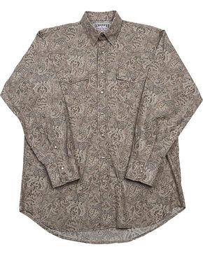 Schaefer Outfitter Men's Beige Frontier Paisley Western Snap Shirt , Beige/khaki, hi-res
