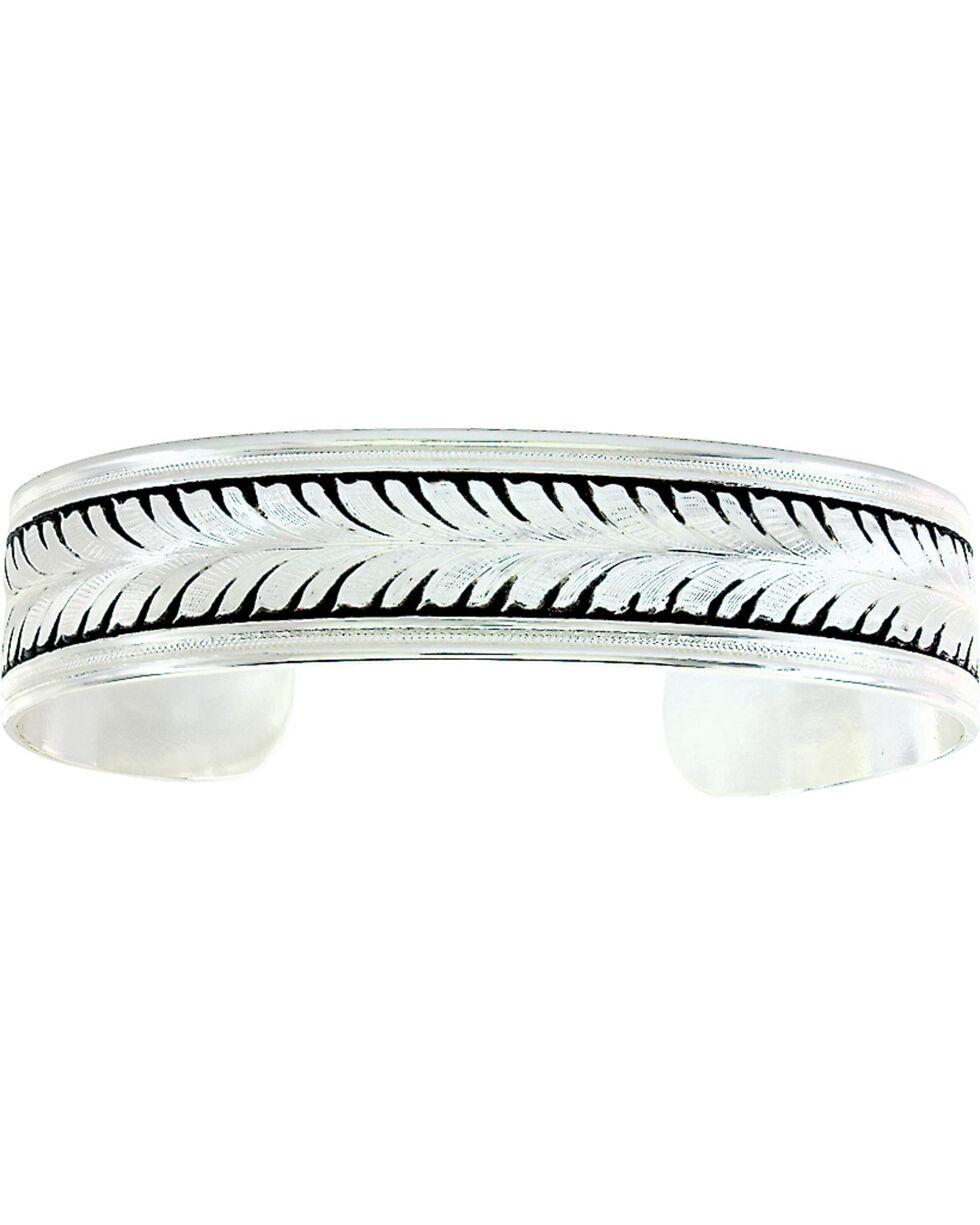 Montana Silversmiths Women's Silver Vine Bracelet Cuff, Silver, hi-res