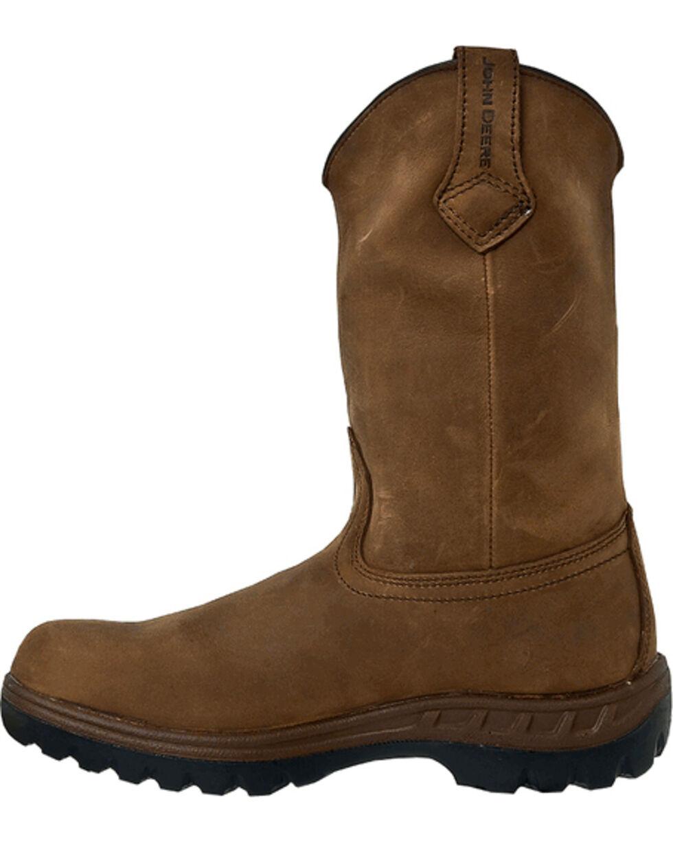 John Deere® Men's WCT Waterproof Steel Toe Work Boots, Tan, hi-res