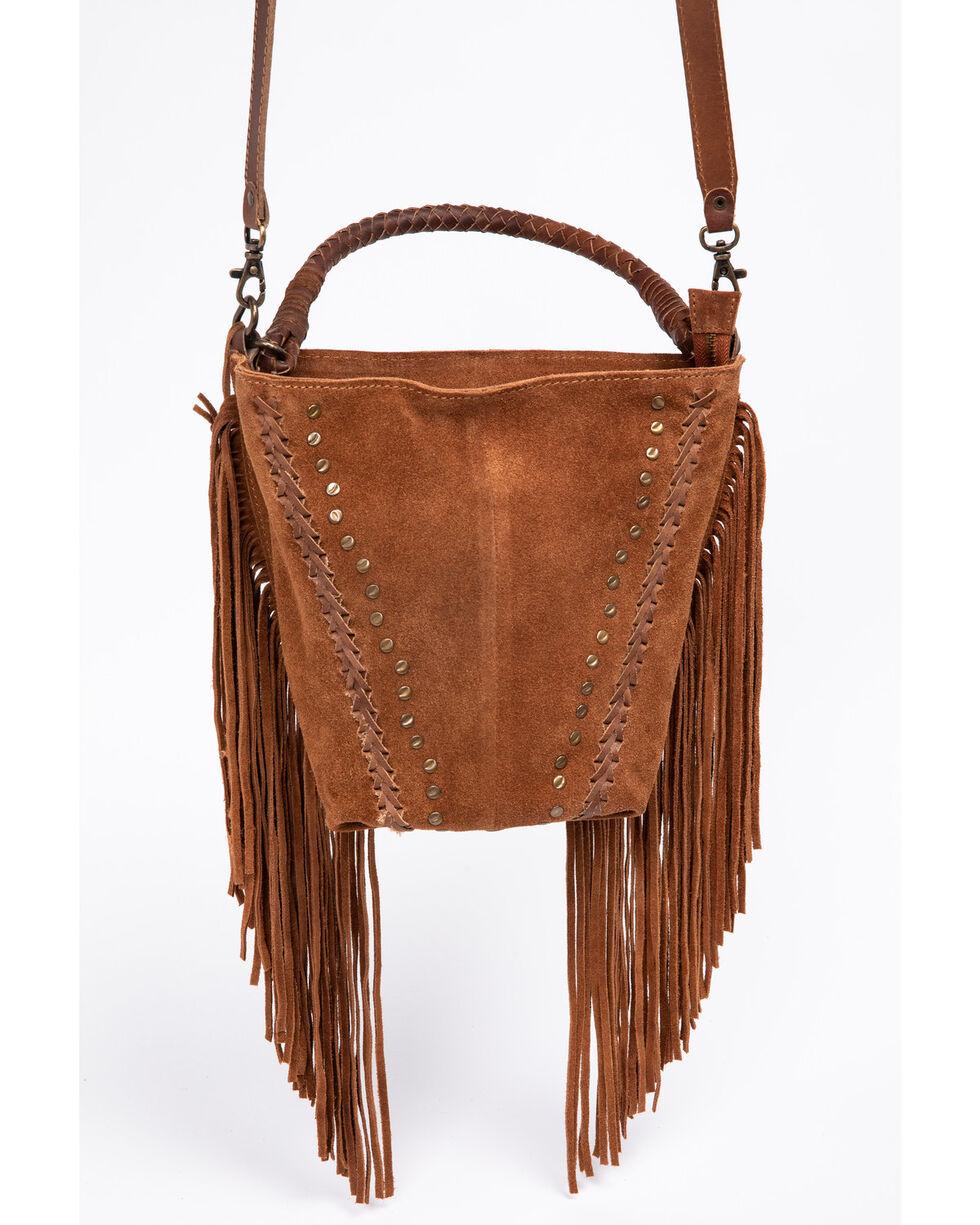 Idyllwind Women's Fringe Swagger Crossbody Bag, Cognac, hi-res