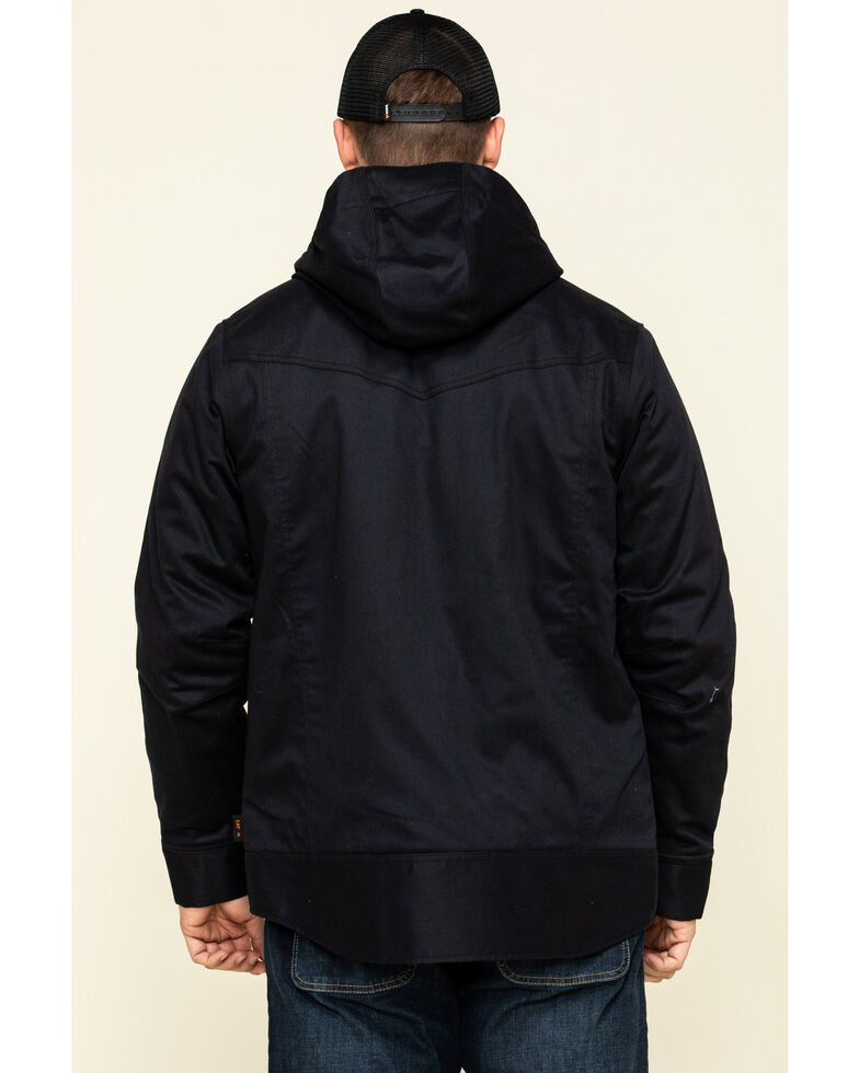 Cody James Men's FR Hooded Duck Work Jacket , Black, hi-res