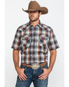 Pendleton Men's Grey Frontier Plaid Short Sleeve Western Shirt , Grey, hi-res