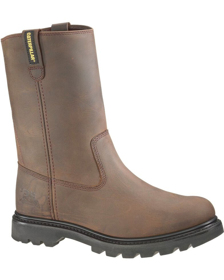 CAT Men's Revolver Steel Toe Work Boots, Brown, hi-res