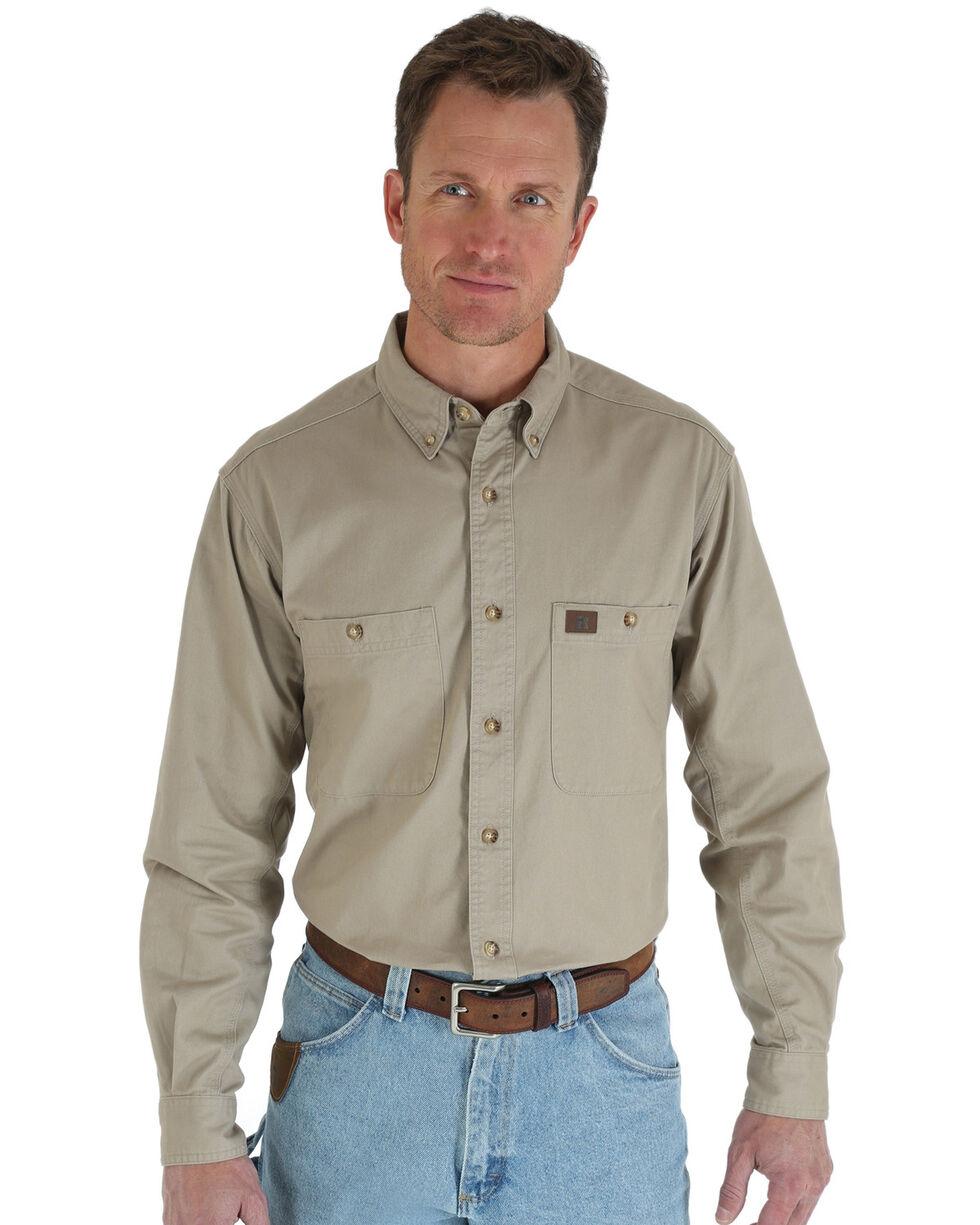 Men/'s WRANGLER Riggs Workwear shirt à manches courtes taille-L Couleur-Kaki