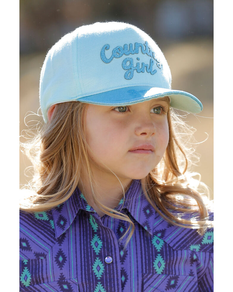 Cruel Girl Girls' Country Girl Jersey Ball Cap, Blue, hi-res