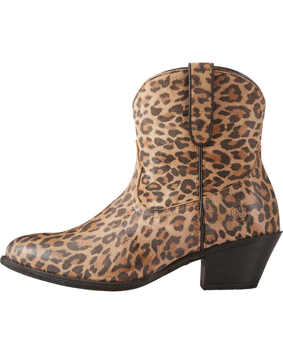 Ariat Women's Leopard Print Darlin Booties - Medium Toe, Leopard, hi-res