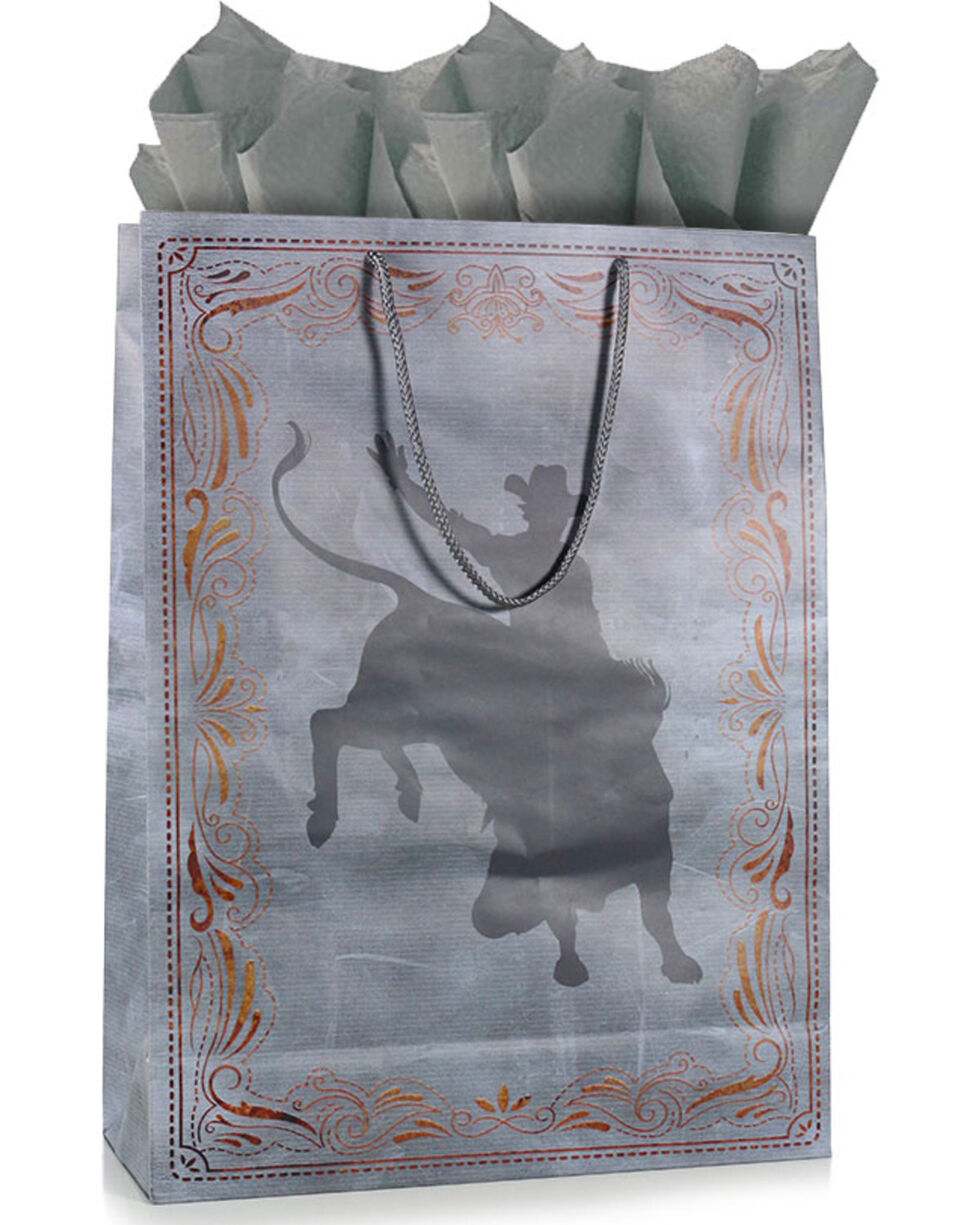 BB Ranch® The Cowboy Way Gift Bag with Tissue Paper, No Color, hi-res