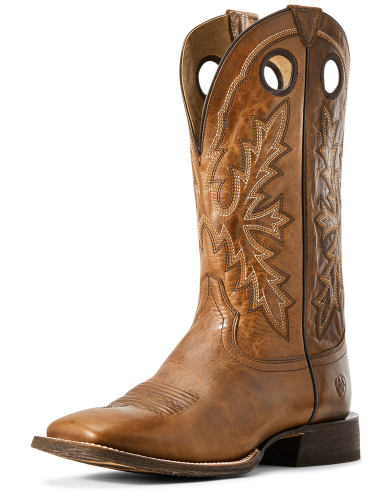 Ariat Men's Circuit Nomad Western Boots - Wide Square Toe, Brown, hi-res