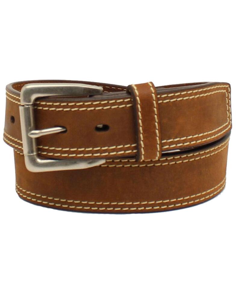 Ariat Men's Brown Leather Work Belt, Medium Brown, hi-res