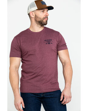 Moonshine Spirit Men's Lightning Barrel Graphic T-Shirt , Burgundy, hi-res