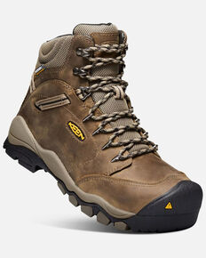 Keen Women's Canby Waterproof Work Boots - Aluminum Toe, Tan, hi-res