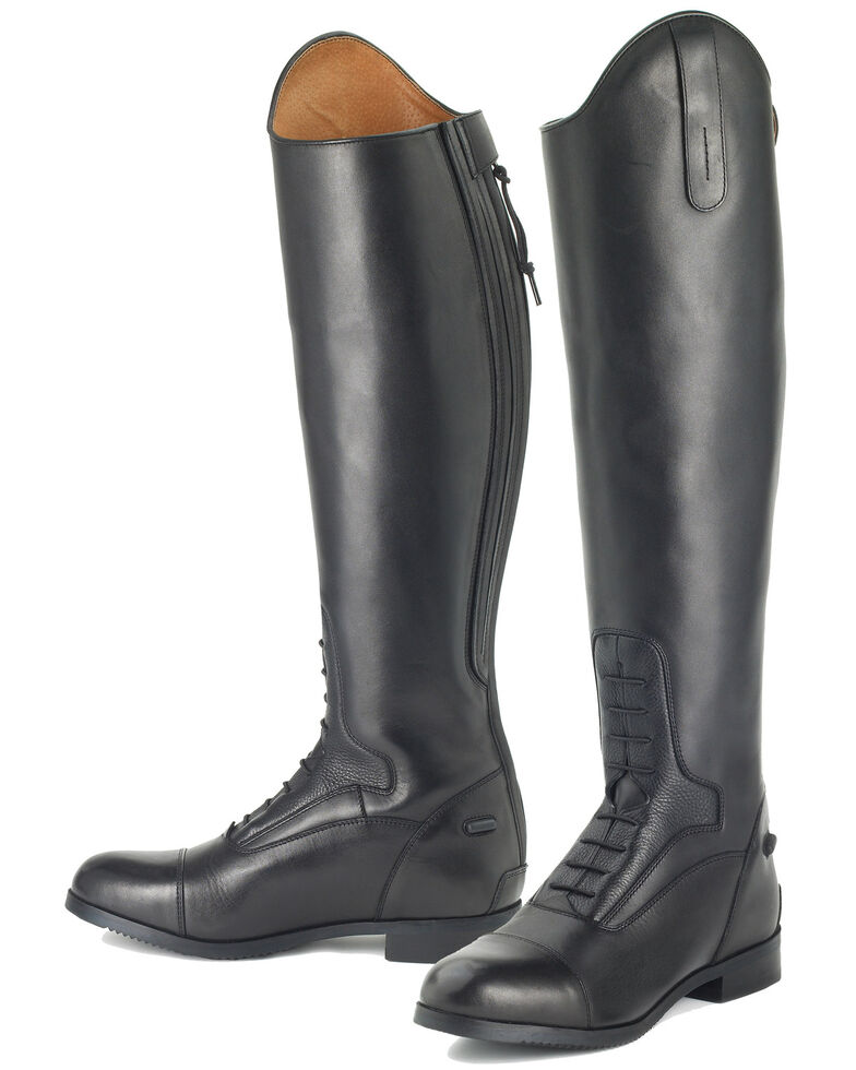 Ovation Kids' Flex Sport Field Boots, Black, hi-res