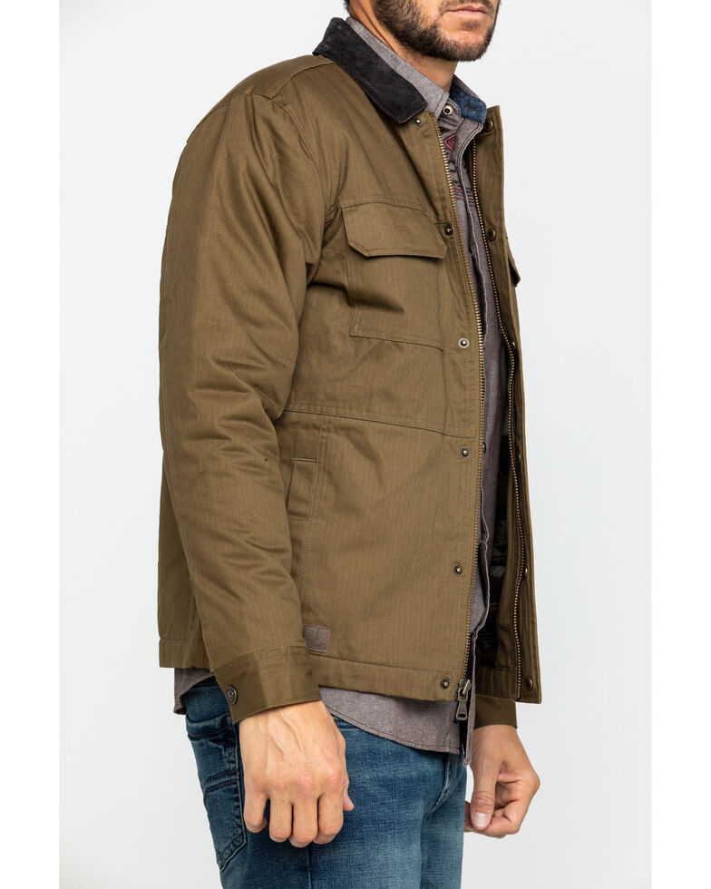 Cody James Men's Saddler Ranch Slub Canvas Jacket - Tall , Lt Brown, hi-res