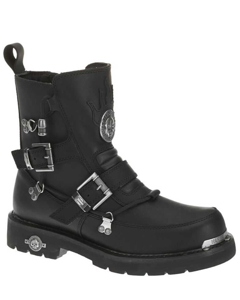 Harley-Davidson Men's Distortion Motorcycle Boots, Black, hi-res