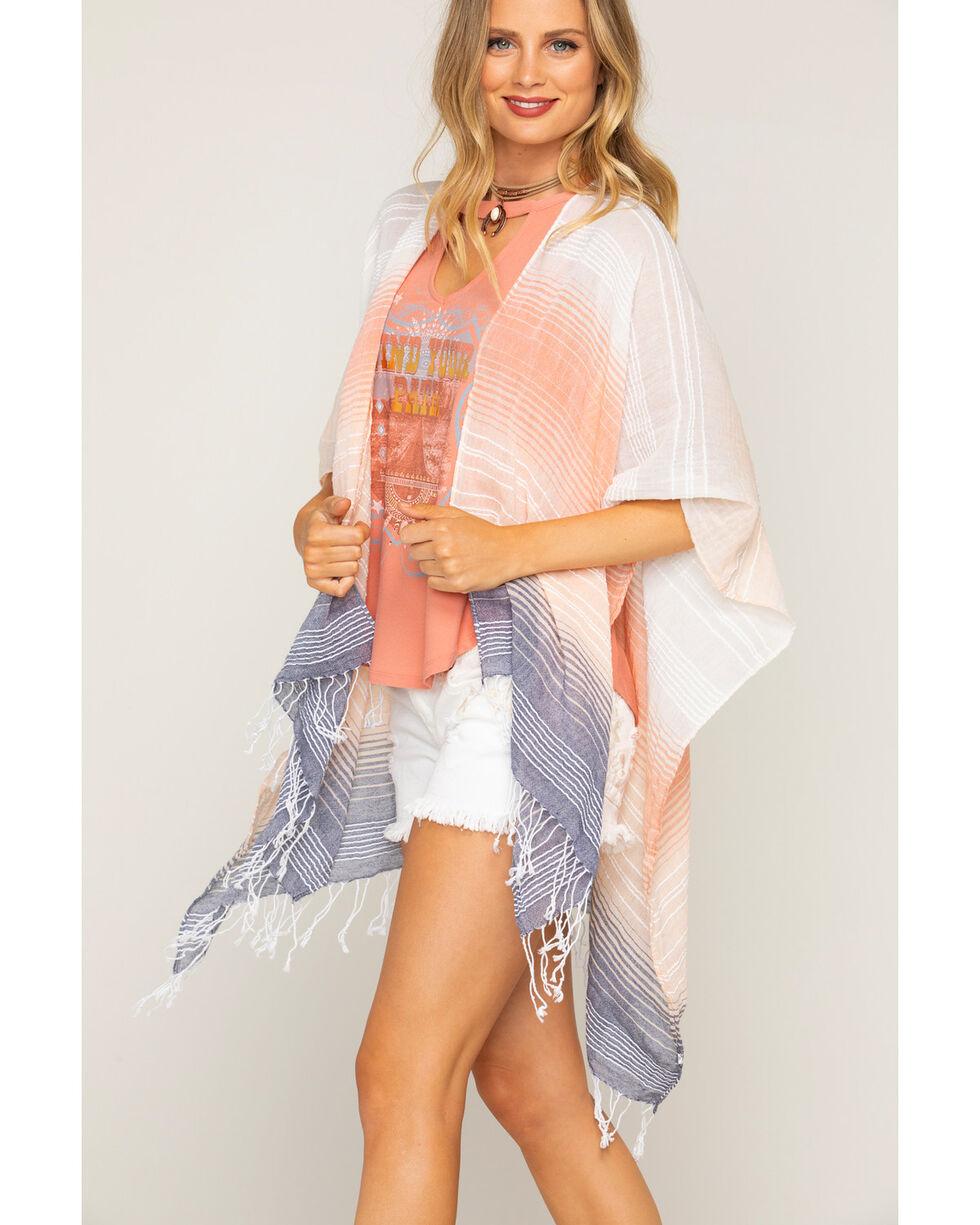 Shyanne Women's Multi-Color Striped Scarf, Multi, hi-res