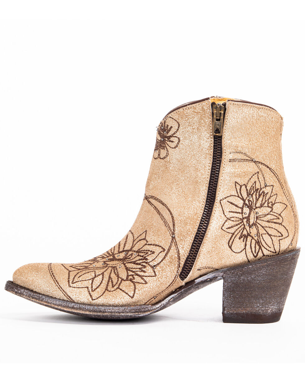 Idyllwind Women's Vegas Gold Western Booties - Pointed Toe, Gold, hi-res