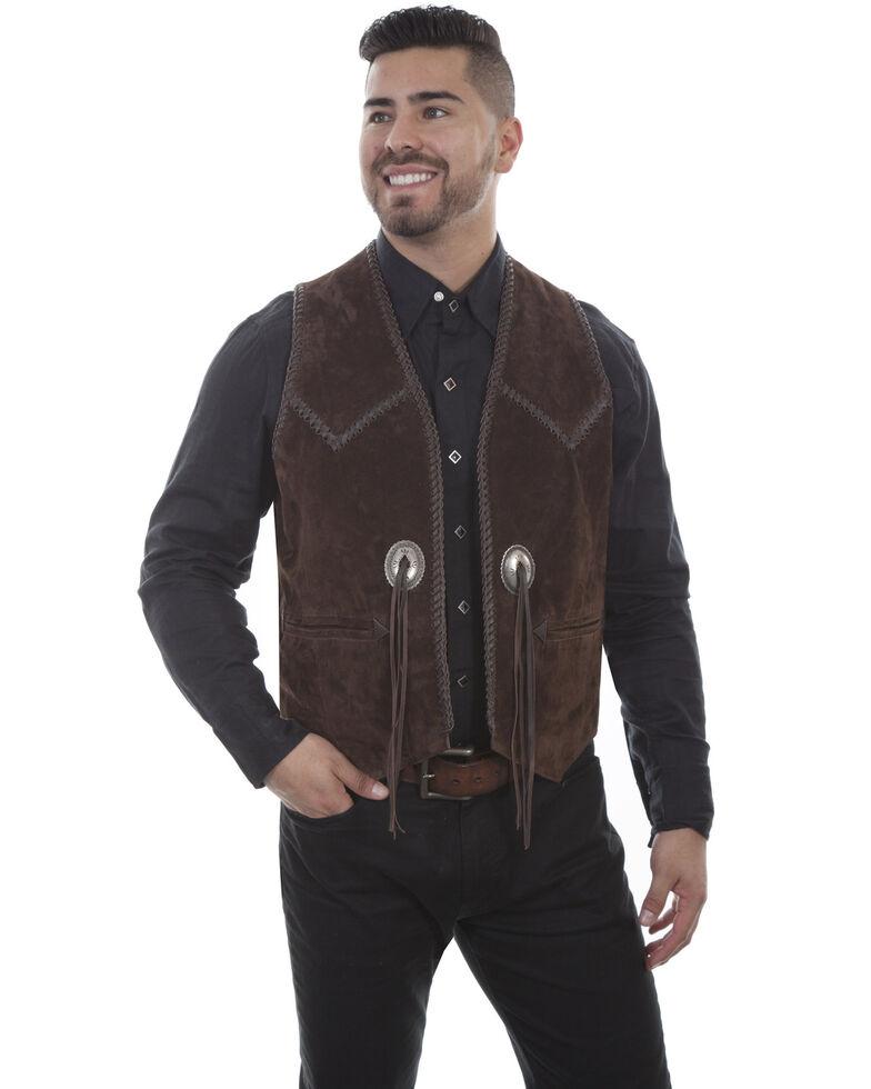 Scully Men's Expresso Boar Suede Vest, Coffee, hi-res