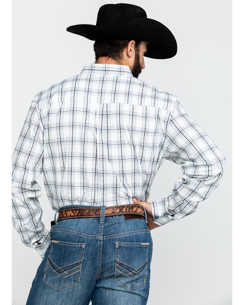 Cody James Core Men's Founders Large Plaid Long Sleeve Western Shirt , White, hi-res
