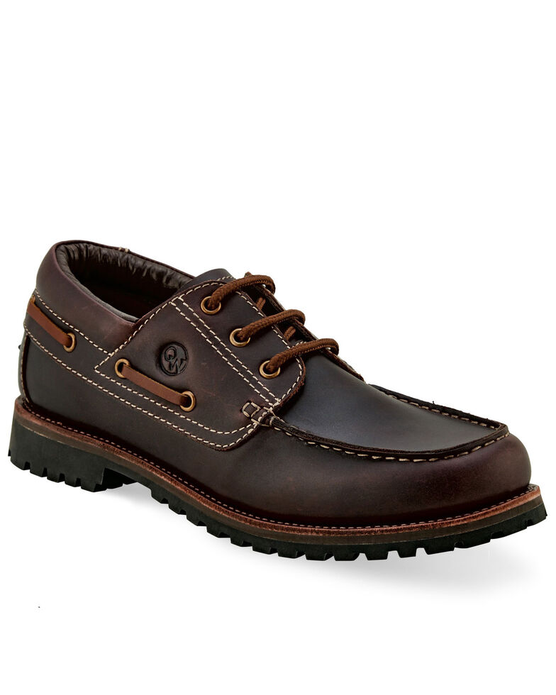 Old West Men's Leather Driving Shoes - Moc Toe, Rust Copper, hi-res
