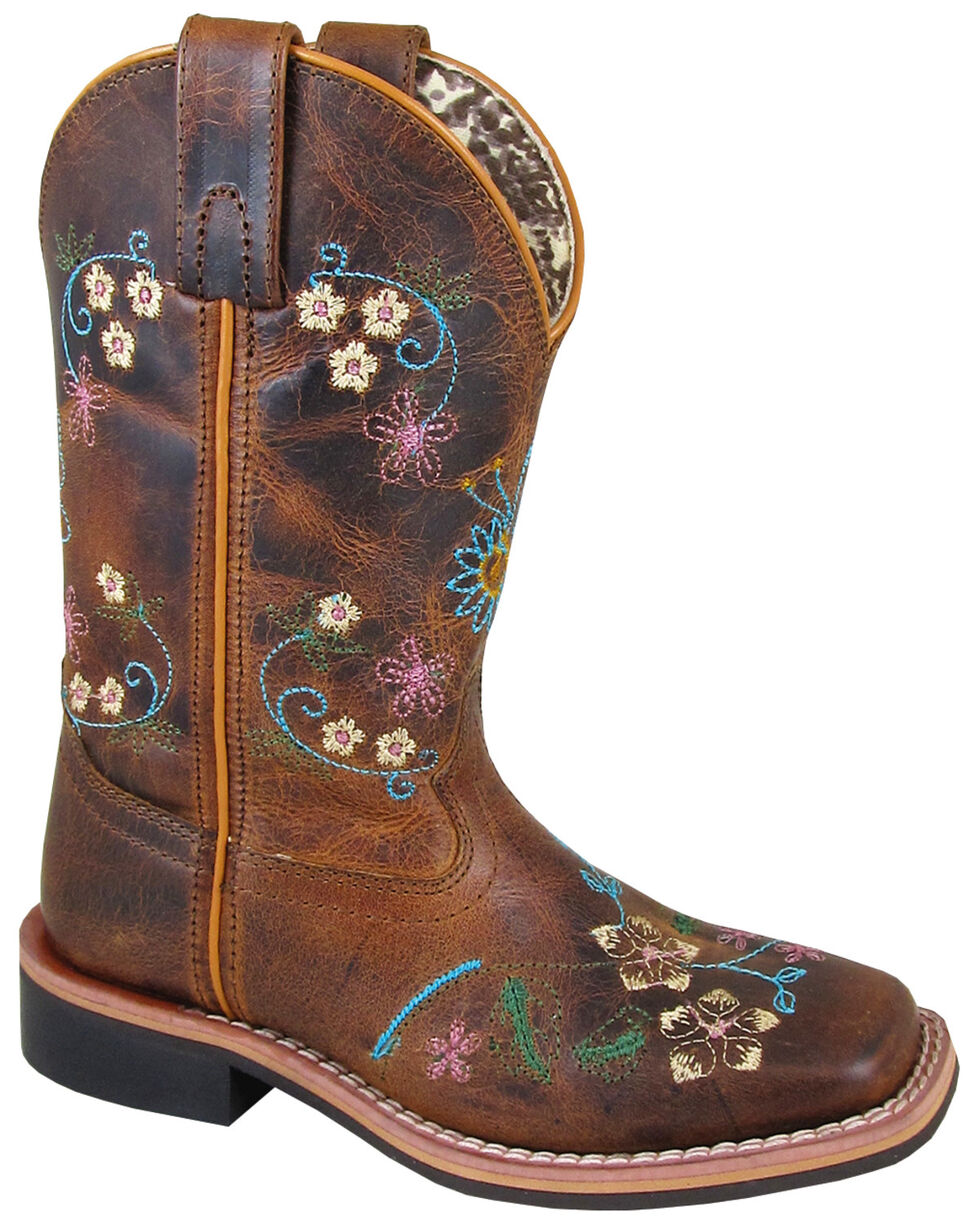 Smoky Mountain Girls' Floralie Western Boots - Square Toe, , hi-res