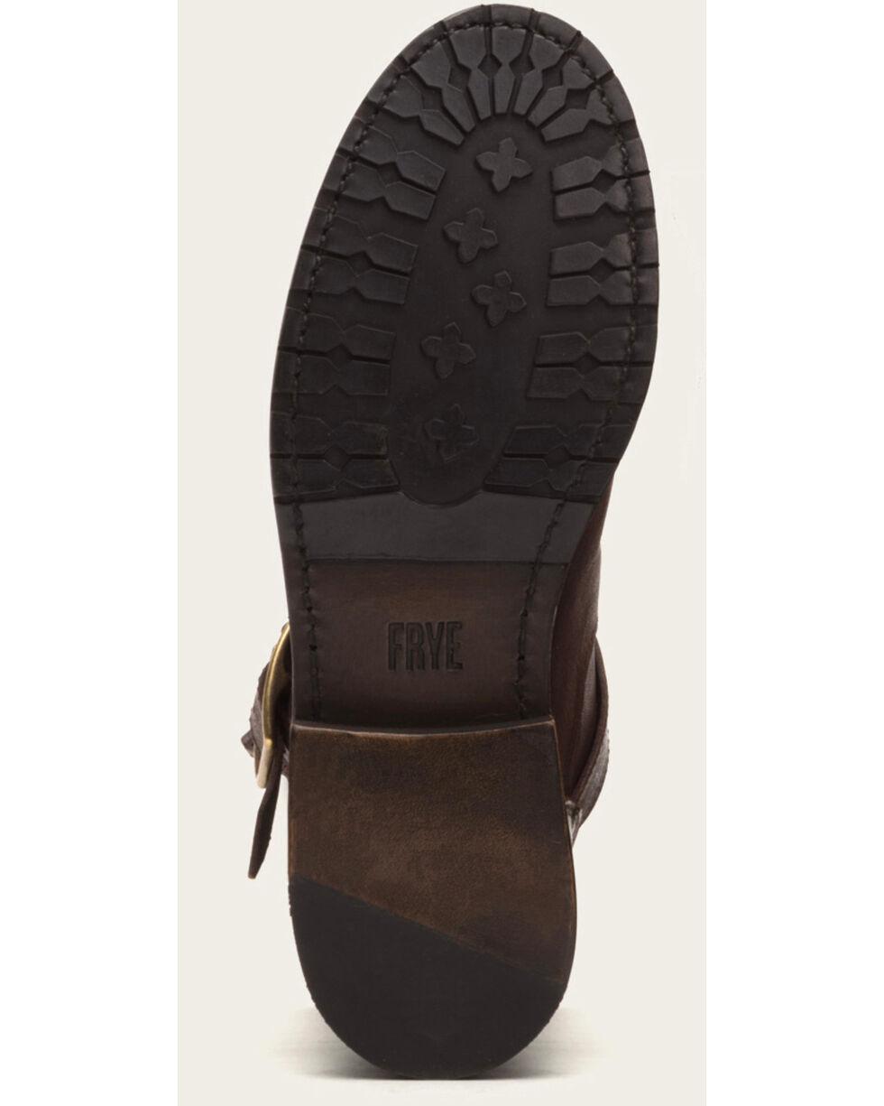 Frye Women's Dark Brown Natalie Short Engineer Boots - Round Toe, Dark Brown, hi-res