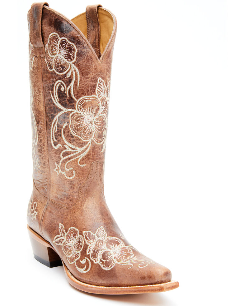 Shyanne Women's Lara Western Boots - Snip Toe, Taupe, hi-res