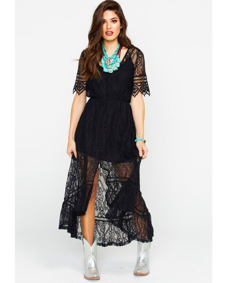 Shyanne Womens Allover Lace Maxi Dress Boot Barn