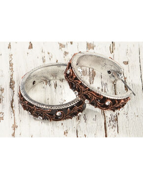 Shyanne Women's Filigree Hoop Earrings, Rust Copper, hi-res