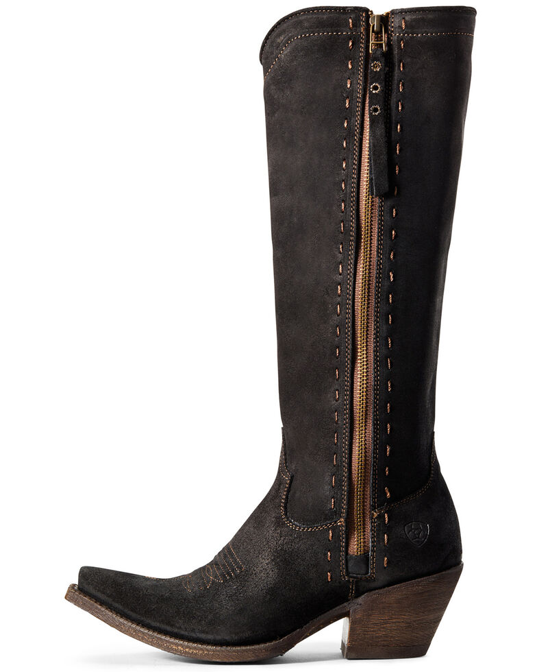 Ariat Women's Giselle Suede Tall Boots - Snip Toe, Black, hi-res